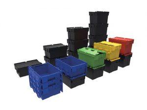 Bac navette avec couvercle intégré : la solution innovante de packaging réutilisable