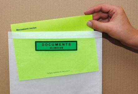 Pochette adhésive porte-document 100 % recyclable