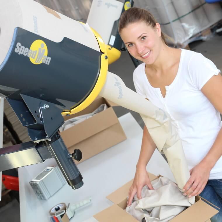distributeur de papier recyclé de calage sans entretien