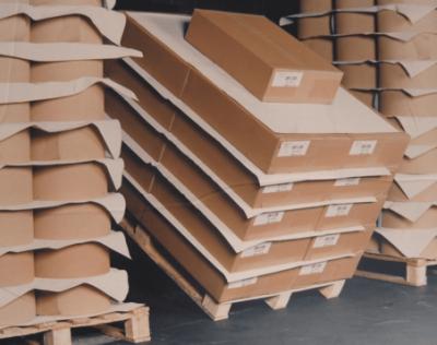 Palettes et intercalaires en papier antidérapant